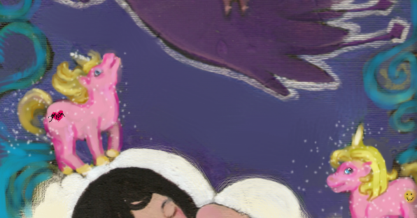 Magical Dream Squid original acrylic painting by KatCanPaint