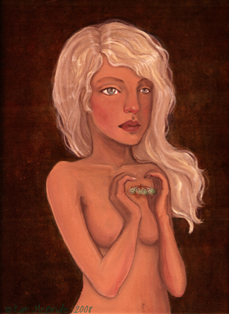 My Invisible Heart acrylic painting by KatCanPaint