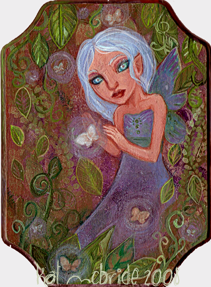 Fairy Garden Painting by KatCanPaint