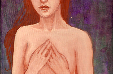 Holding On original painting by KatCanPaint