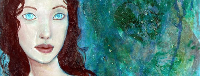 Blue Eyes original acrylic painting by KatCanPaint