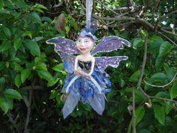 Art Doll gourd fairy faerie ornament by KatCaPaint
