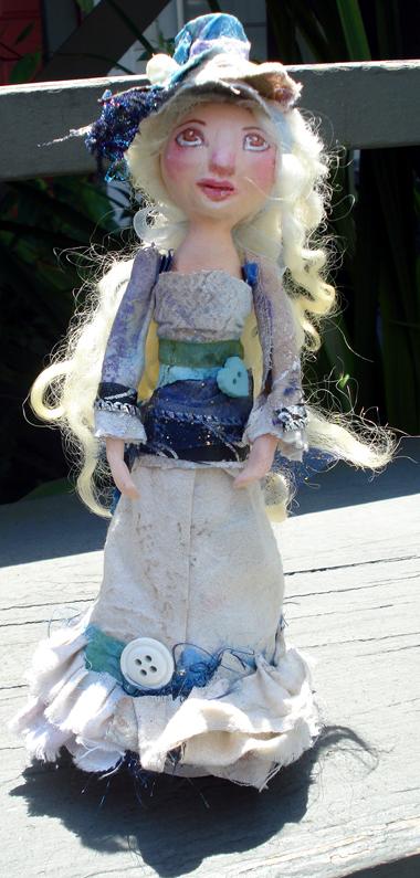 Original handmade art doll by KatCanPaint