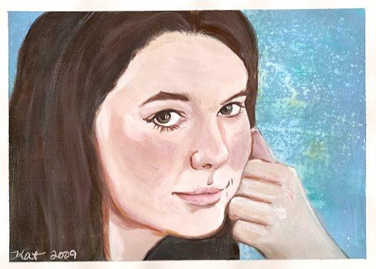 custom portrait painting girl by KatCanPaint