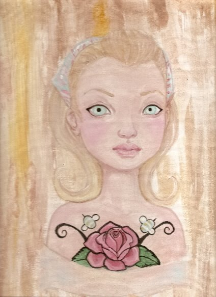 Art journal page 10 doll face by KatCanPaint