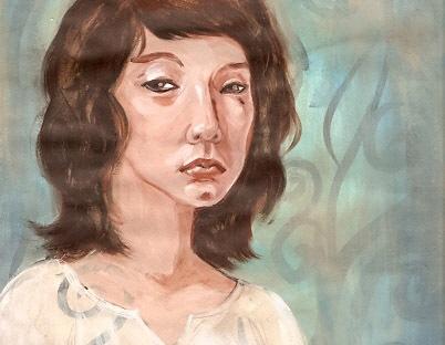 art journal page 3 portrait by KatCanPaint