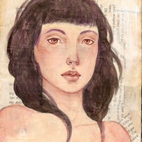 From the Archives: Can you paint on wood without looking like an Audrey Kawasaki copycat?