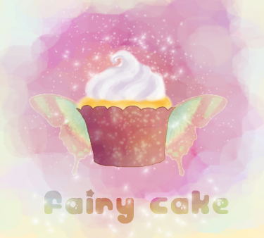 fairy cake digital painting by KatCanPaint