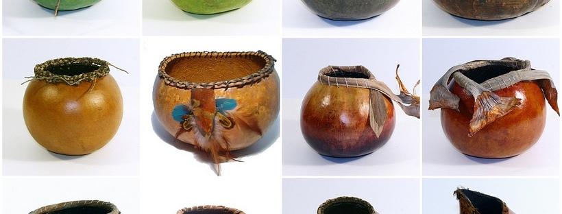 gourd bowl mosaic by KatcanPaint