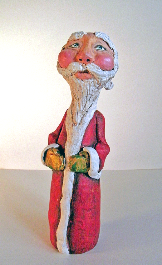 sculpted santa gourd by KatcanPaint
