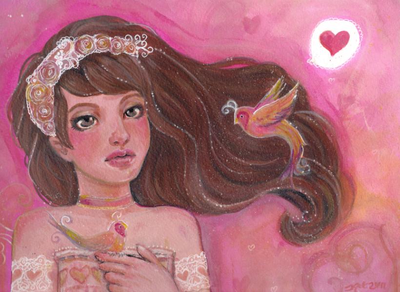 Love Birds by KatCanPaint