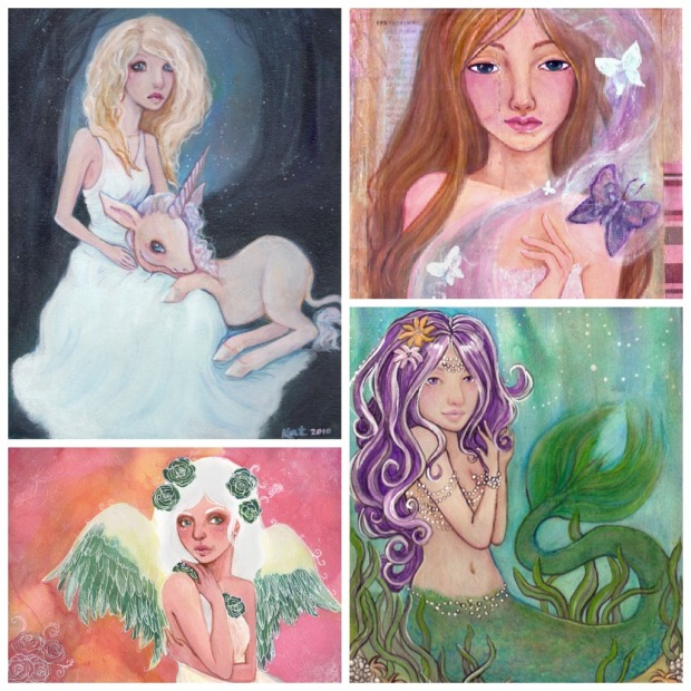 Paintings inspired by Sailor Moon