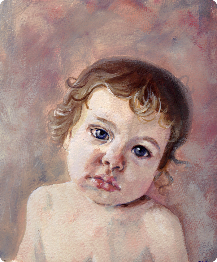 painted portrait of my son