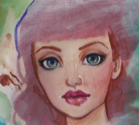 Pink Velvet painting by KatCanPaint