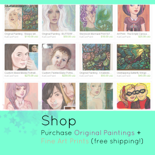 Original art and Prints on katcanpaint.storenvy.com