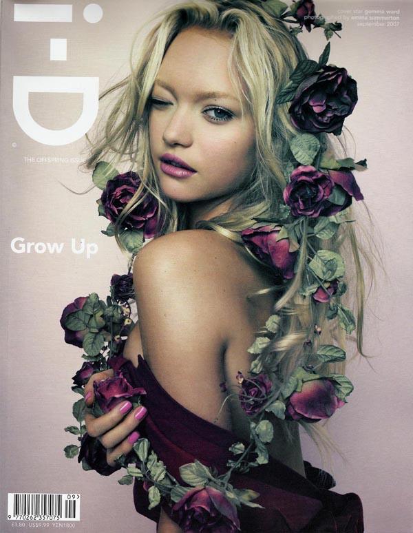 i-D magazine, September 2007 cover, Gemma Ward