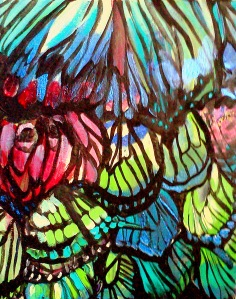butterfly wings painting