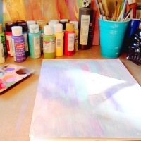 Tutorial Tuesday! Quick and easy diy painted butterfly wing background