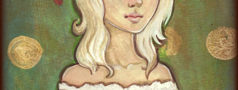 Flower Girl original acrylic painting by KatCanPaint
