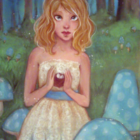 From the Archives! Protecting: a painting from the Enchanted Forest