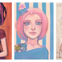 Hey Pretty! Cupcake Baker portrait + color palette inspiration