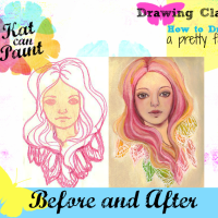 Drawing Class: Before and After : when I follow the rules and when I don't.