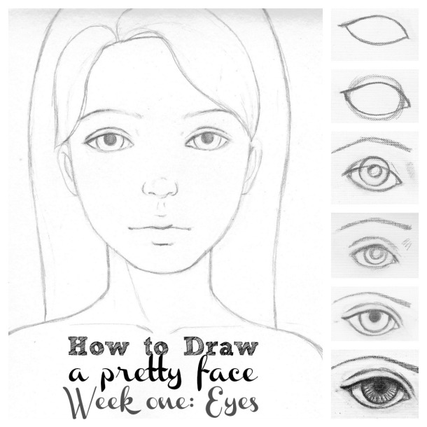 how to draw pretty eyes