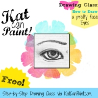 Free Painting Tutorial! How to Draw a Pretty Face: Week One - Eyes