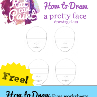 Tutorial Tuesday: How to Draw Eyes - Now with more worksheets!